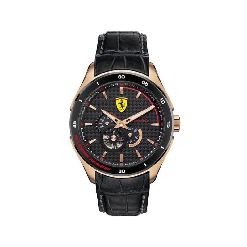 2e4178d9e092 Reloj Ferrari Chapado en Oro Rosa 0830108 Scuderia - 44mm en ...